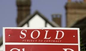 Estate Agent For Sale sign with Sold slip