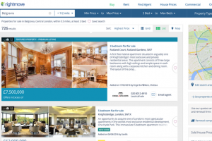 Image of a page from Rightmove property portal