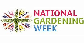 Image of what looks like flowers planted in a Union Jack format to illustrate National Gardening Week 2020