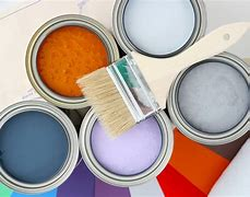 Image of a selection of pots of paint.