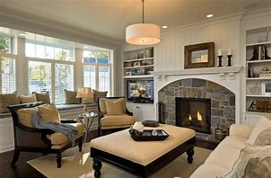 Image of a lounge with neutral decor