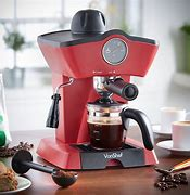 Image of a modern red coffee maker