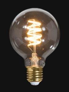 Image of an illuminated lightbulb against a dark background